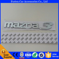 Car ABS Chrome M3 Letter Sticker Badge Emblem For Mazda 3