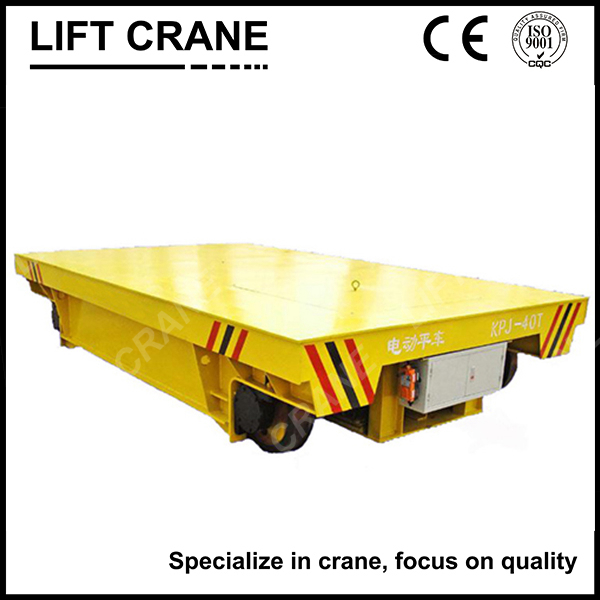 heavy load industrial steel coil railway transfer trolley for heavy cargo