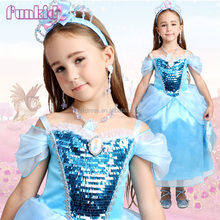 2015 Cinderella flower girl cosplay costume dresses