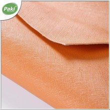 1.2mm cross PVC artificial leather fabric for women's handbag