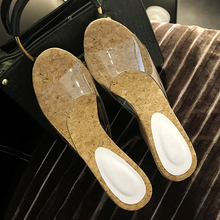 fashion style wholesale wedges platform slide slippers transparent ladies pvc sandals