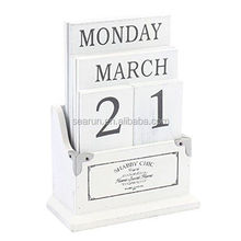 Shabby Chic Wooden Perpetual / Eternal Desk Top Calendar / Calendar Blocks