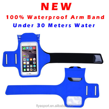 100% waterproof armband with reflective touchscreen ,workable under 10 meters water