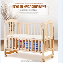 Scientific Comfortable Environmentally Friendly Baby Crib Sale With Bed Net