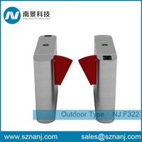 security flap turnstile for handicap lane automatic flap barrier