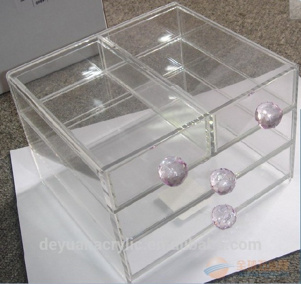 Office Use Desk Acrylic Makeup Organizer Drawers
