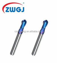 Cost-Effective 4 flutes Carbide Ball Nose End Mill / Ball end mills Cutting Tool For Steel