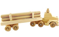 2016 new products handmade child wood game design baby stick decoration wholesale large wooden toy trucks for kids made in China