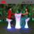 Glowing Led Furniture Illuminated Led Cocktail Table and bar stool for events and party