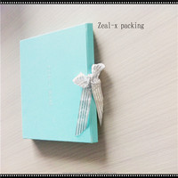 Popular Lucky blue folding box for birthday gift box handmade in alibaba