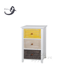 solid wood printing color antique vintage cabinet furniture