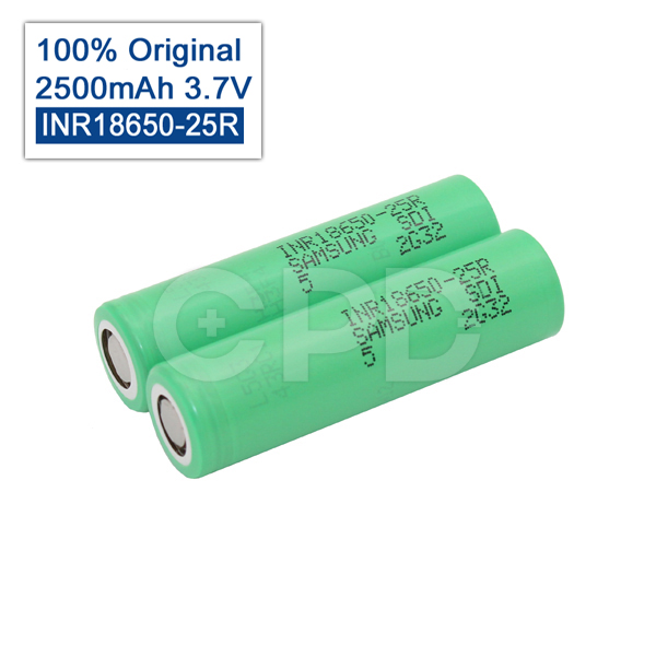 Samsung Original torch 18650 25R INR1865025R 20A discharge lithium INR18650-25