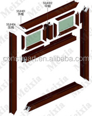 constmart 6000 series sound insulation curtain wall aluminum profile frames materials