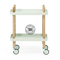 Wooden wheel sundries rack, wooden box rack,Removable Natural Wood rack