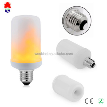 flame effect led light bulb e26 e27