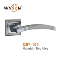 wenzhou factory interior door handles on rose for middle east market