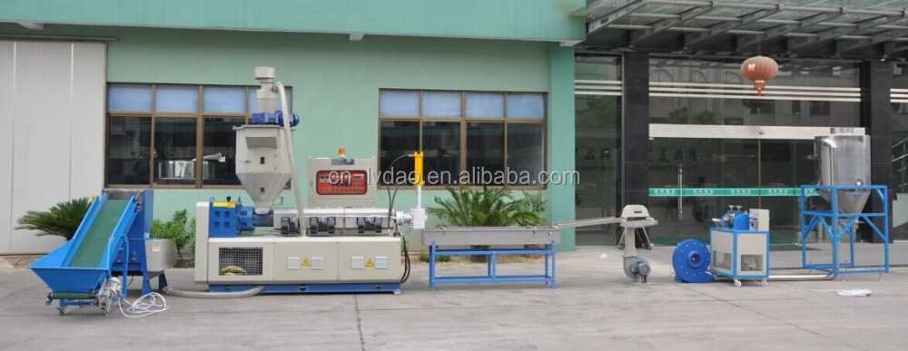 Automatic Crushing & loading force feeder pelletizing machine line