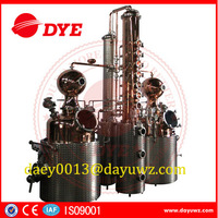 Whiskey,vodka,brandy distiller copper alcohol distilling equipment for sale