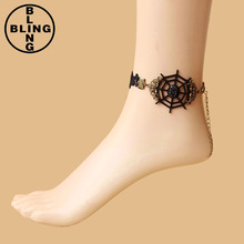 >>>India black lace anklet wholesale foot jewelry love gifts for girl friend beach ornament charm anklet for women