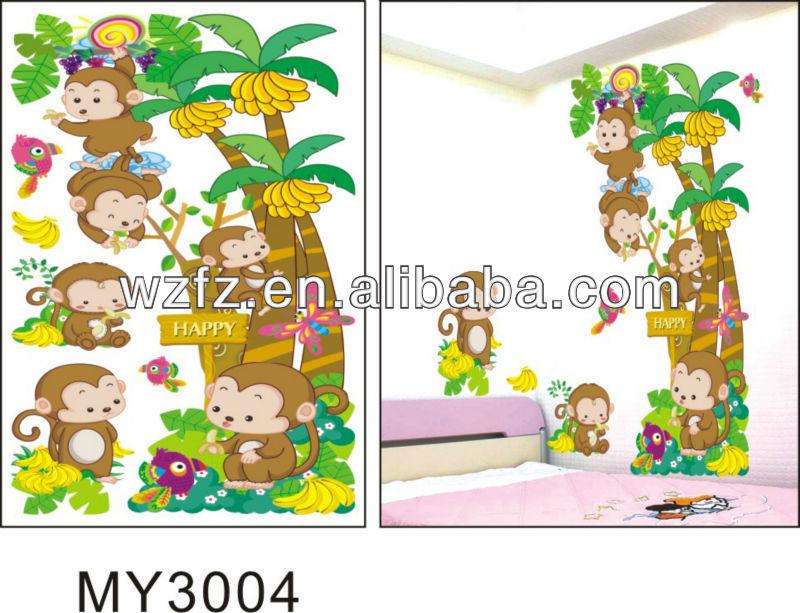 Singe banane arbre carrelage mural autocollants auto - Carrelage mural autocollant ...