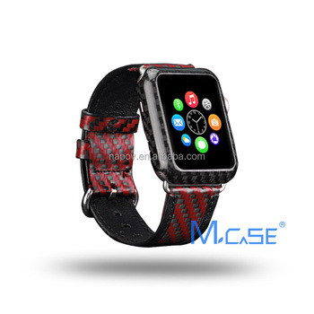 2017 Hot New Products For Apple Watch Series 2 42mm Carbon Fiber Cover Cases