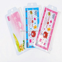 OEM logo printed cute production recyclable zipper stationary cosmetics bags transparent PVC plastic package bags