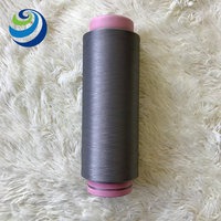 Functional Bamboo Charcoal Carbon Fiber Polyester Filament Yarn For Glove Knitting Yarn 75D/72F