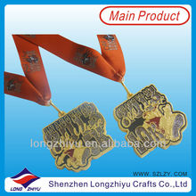 UK 5K and 10K Newest design run race medal custom sports half marathon medal with giltter medal ribbon(lzy-201300253)