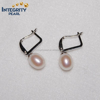 2015 8mm AAA freshwater traditional fashion heart shape pearl earring