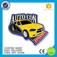 Custom design metal logo soft enamel car pin badge