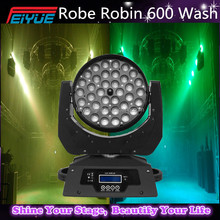 Robe Robin 600 Wash Zoom,36PCS 18W Wash RGBWAUV 6in1 Leds ZOOM Moving Head with Single Circle Leds Controlled RGBWY UV