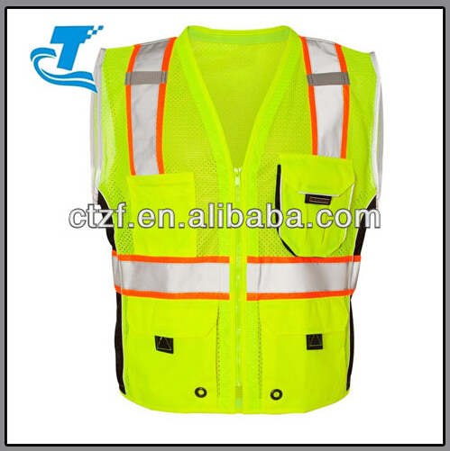 Newest Men's High Vis Yellow Mesh Reflective Safety Vest