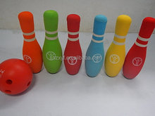 Promotional toy soft foam children indoor bowling set