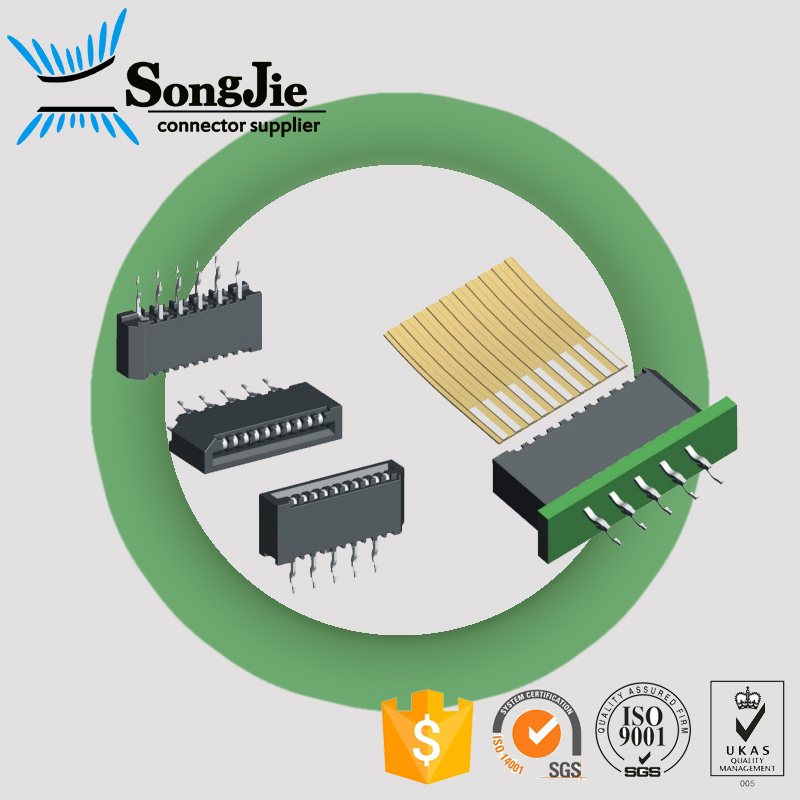 ul94v-0 pbt, nylon 6t/9t,plastic meterial fpc connector 1.0 mm ffc cable 10 20 30 pin
