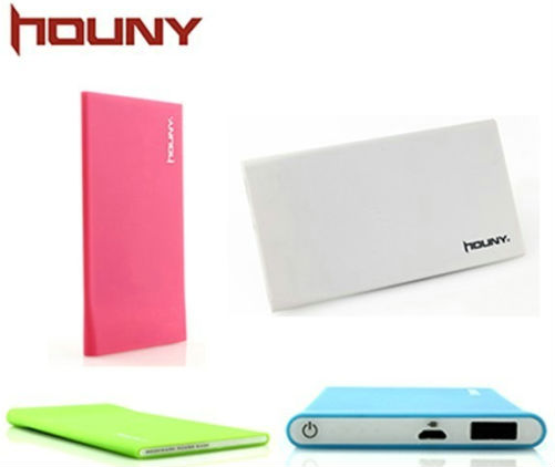 HOUNY 2300mAh Ultra-Slim Power Bank External Battery Pack Charger for iPhone 5 4S 4 3GS iPad 4 3 2 Mini iPods Samsung S4 S3 Note