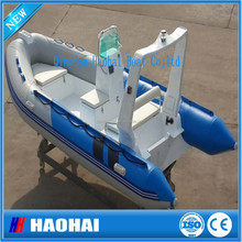 4.8m fish well hypalon fiberglass fishing rib boat
