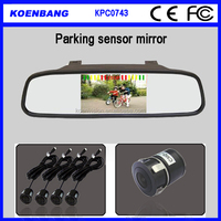 KOEN Clip on Universal Rearview Mirror 4.3 Inch Rearview Mirror Radar Detector