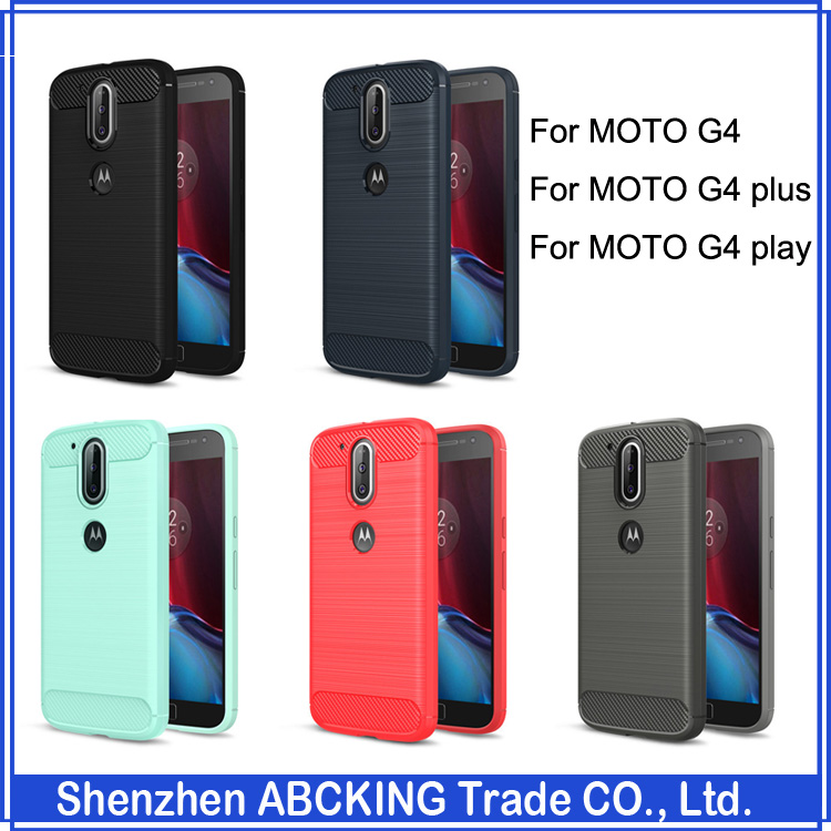 Luxury Brushed Silicon Protective Cover Case For MOTO G4 / G4 Plus / G4 Play