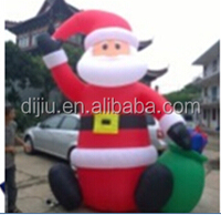 120cm Inflatable Santa Claus sitiing on floor with gift, 4 FT airblown Santa