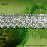 Embroidery White Curtain Laces Trimming Beaded Lace Trimmings For Dresses