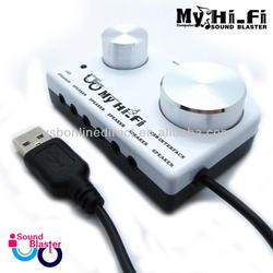Dynamic creaative external usb sound cards (virtual 7.1 channel)