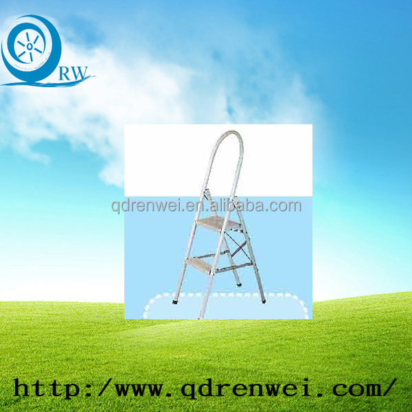 two step folding ladder easy to carry with anti-slip feet foe sale