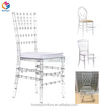 Cheap sale ghost wedding hotel silla white crystal clear transparent acrylic chiavari chairs resin tiffany chair wholesale