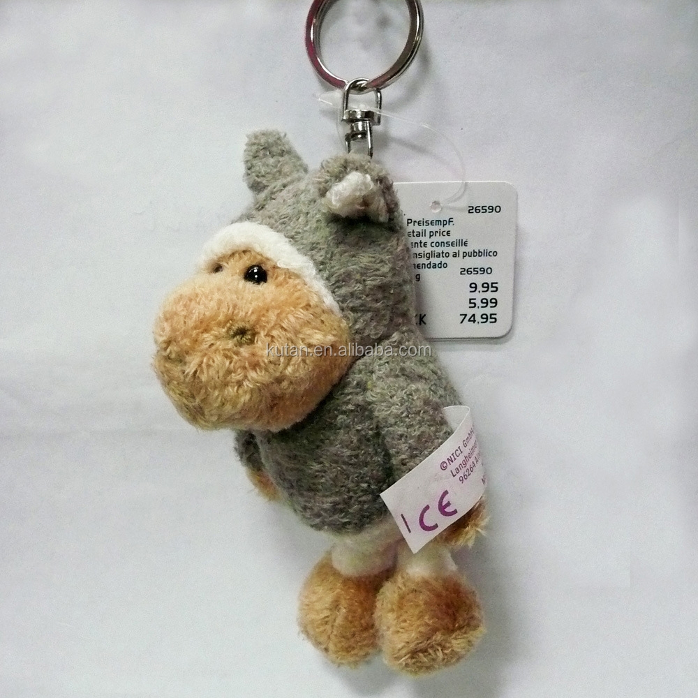 ICTI Factory hot sale plush and stuffed custom plush gray Sheep keychain