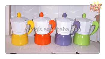 2014 professional aluminum stove top coloured espresso moka coffee maker /coffee pot/coffee maker Manufacturer-01