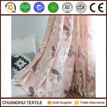 100% polyester faux linen printed drapery panel