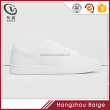 2017 plain blank white PU leather PVC injection flat simple trainers men sports sneakers shoes