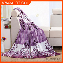 100% polyester Wholesale luxurious soft print flannel blanket