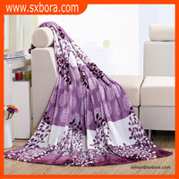 Wholesale luxurious soft printed plain flannel blanket