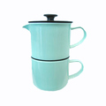 Factory Sale Custom 1000ml Ceramic Baby Blue French Coffee Press